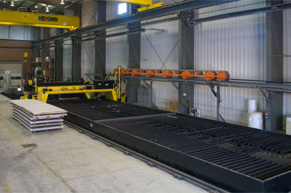 Example of plasma cutting facility