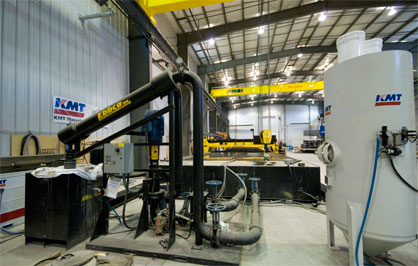 Modenr waterjet cutting facility
