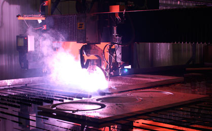 plasma steel cutting process