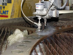 Water Jet Cutting of Materials